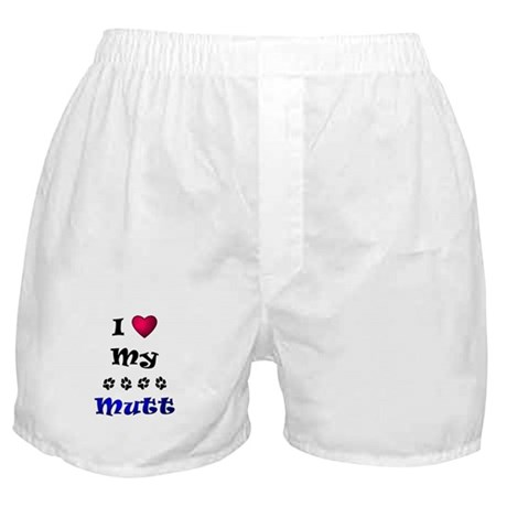 I Love My Mutt Boxer Shorts