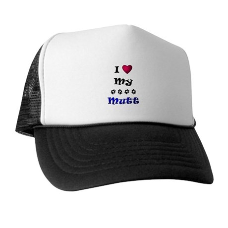 I Love My Mutt Trucker Hat