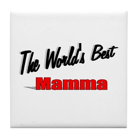 """ The World's Best Mamma"" Tile Coaster"