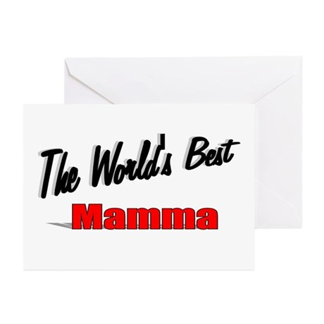 """ The World's Best Mamma"" Greeting Cards (Pk of 20"