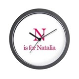 N is for Natalia Wall Clock