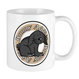 Black Rabbit Small Mug