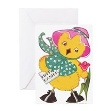 Vintage Easter Chick Greeting Card