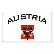 Austria Eagle Rectangle Decal