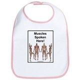 Muscles Spoken Herd Bib