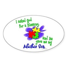 Blessing 2 (Autistic Son) Oval Decal
