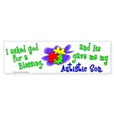 Blessing 2 (Autistic Son) Bumper Bumper Sticker