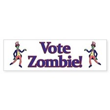 Vote Zombie! Bumper Bumper Sticker