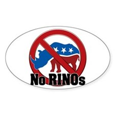 No RINOs! v2 Oval Decal