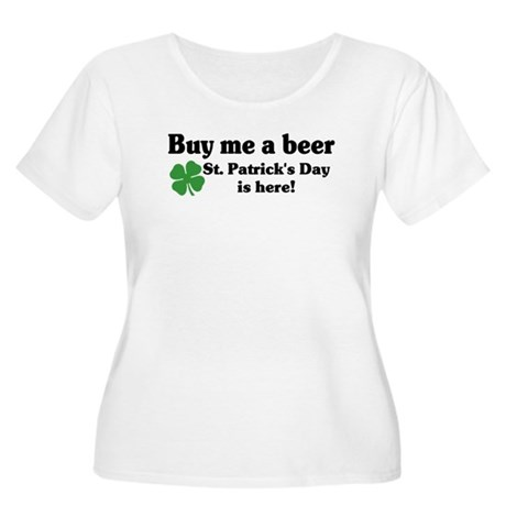 Buy me a Beer Women's Plus Size Scoop Neck T-Shirt