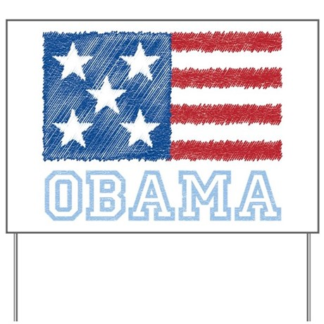 Obama Flag Yard Sign