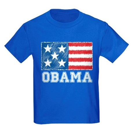 Obama Flag Kids Dark T-Shirt