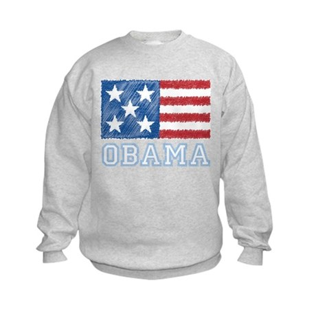 Obama Flag Kids Sweatshirt