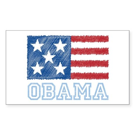 Obama Flag Rectangle Sticker