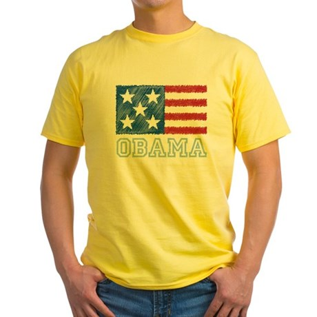Obama Flag Yellow T-Shirt