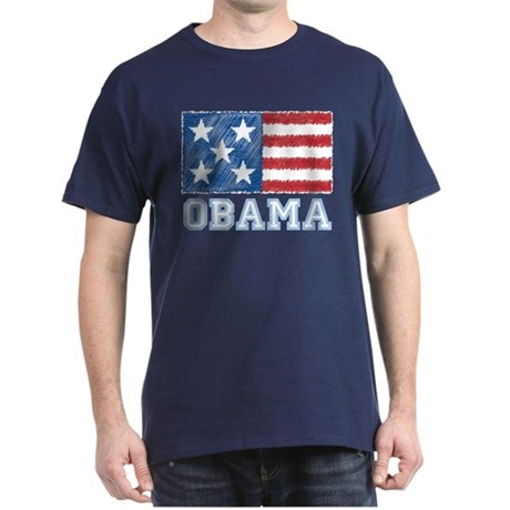 Obama Flag Dark T-Shirt