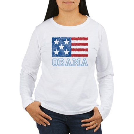 Obama Flag Women's Long Sleeve T-Shirt