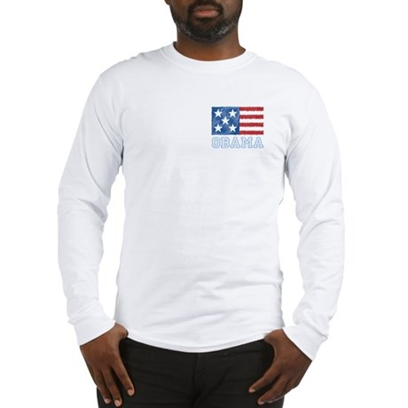 Obama Flag Long Sleeve T-Shirt