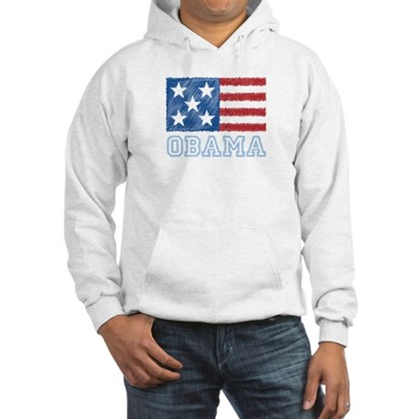 Obama Flag Hooded Sweatshirt