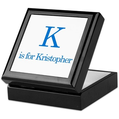 K is for Kristopher Keepsake Box