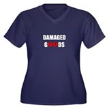 Damaged Goods Women's Plus Size V-Neck Dark T-Shir