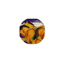 Yellow Horses Mini Button