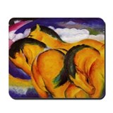 Yellow Horses Mousepad