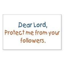 """Dear Lord, Protect Me"" Mini Bumper Decal"