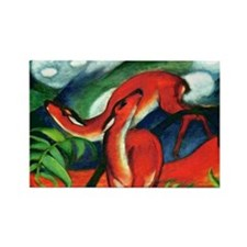 Red Deer by Franz Marc Rectangle Magnet (10 pack)