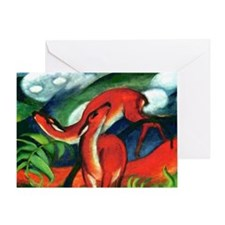 Red Deer by Franz Marc Greeting Card