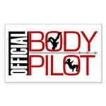 OFFICIAL BODY PILOT Rectangle Sticker