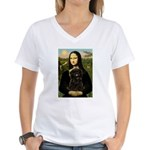 Mona - Affenpinscher3 Women's V-Neck T-Shirt