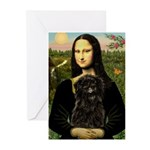 Mona - Affenpinscher3 Greeting Cards (Pk of 10)