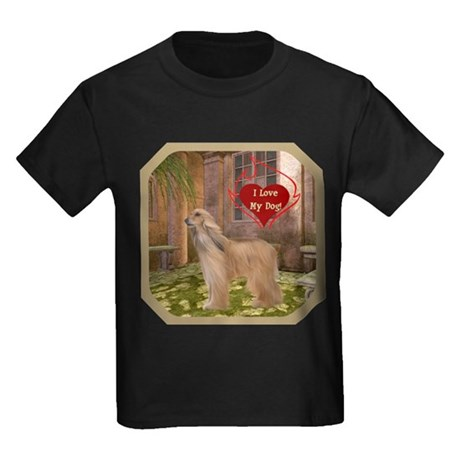 Afghan Hound Kids Dark T-Shirt
