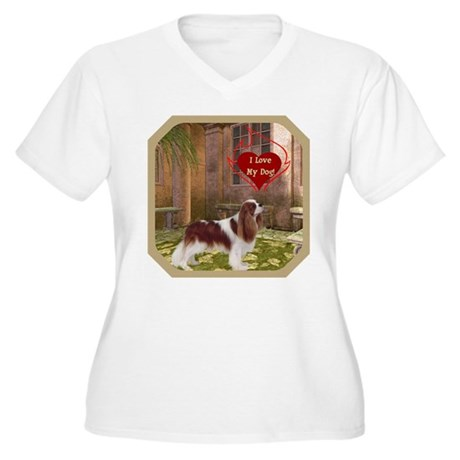 Cavalier King Women's Plus Size V-Neck T-Shirt