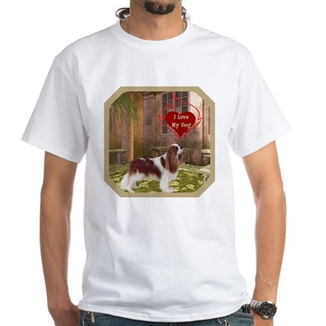 Cavalier King White T-Shirt