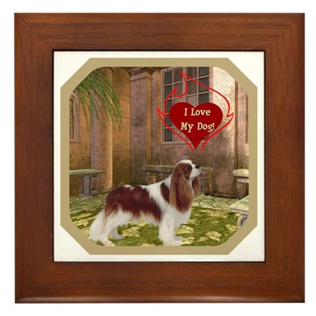 Cavalier King Framed Tile