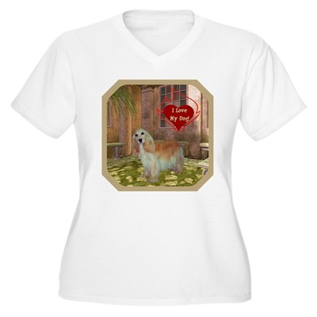 Cocker Spaniel Women's Plus Size V-Neck T-Shirt
