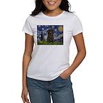 Starry Night / Affenpinscher Women's T-Shirt