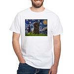 Starry Night / Affenpinscher White T-Shirt