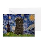 Starry Night / Affenpinscher Greeting Card