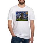 Starry Night / Affenpinscher Fitted T-Shirt