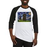 Starry Night / Affenpinscher Baseball Jersey