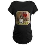 Collie Maternity Dark T-Shirt