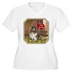 Collie Women's Plus Size V-Neck T-Shirt
