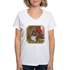 Collie Women's V-Neck T-Shirt