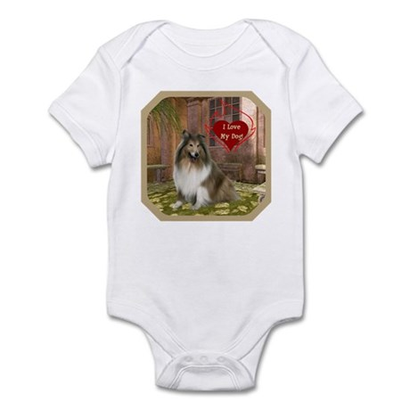 Collie Infant Bodysuit