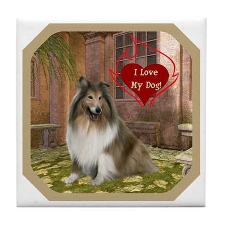 Collie Tile Coaster