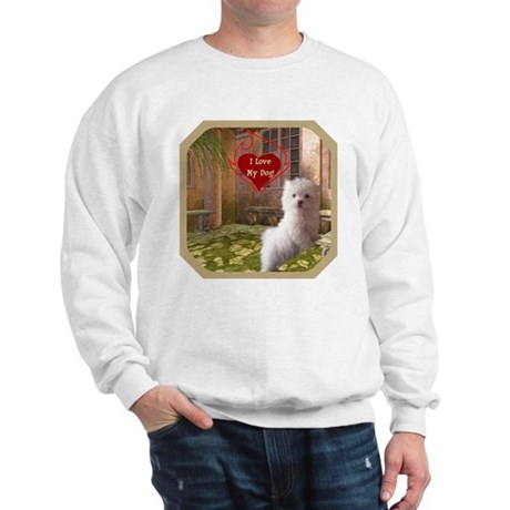 Maltese Puppy Sweatshirt