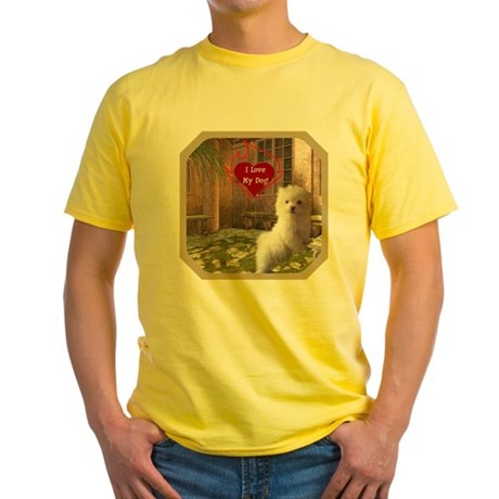 Maltese Puppy Yellow T-Shirt